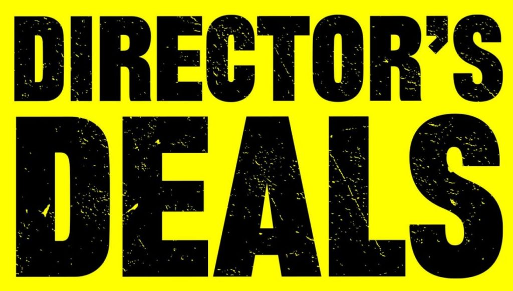 The Director's Deals Savings is now on!